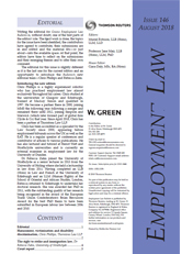 Greens Employment Law Bulletin