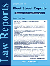 Fleet Street Reports: Cases on Intellectual Property Law