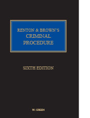 Renton & Brown: Criminal Procedure