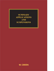 Summary Applications and Suspensions