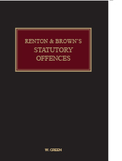 Renton & Brown's Statutory Offences
