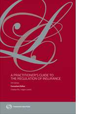 Practitioner's Guide to The Regulation of Insurance, A