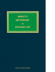 Jowitt's Dictionary of English Law