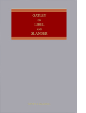 Gatley on Libel and Slander