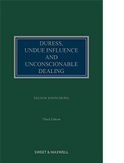 Duress, Undue Influence and Unconscionable Dealing