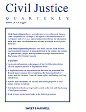 Civil Justice Quarterly