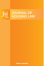 Journal of Housing Law