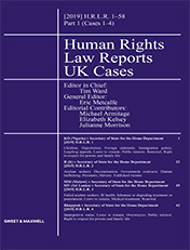 Human Rights Law Reports - UK Cases