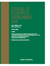 Journal of Planning & Environment Law