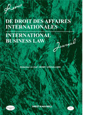 International Business Law Journal Print & Online Service