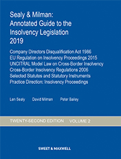 Sealy & Milman: Annotated Guide to the Insolvency Legislation 2019
