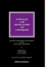 Copinger & Skone James on Copyright