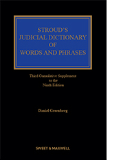 Stroud's Judicial Dictionary of Words and Phrases