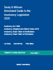Sealy & Milman: Annotated Guide to the Insolvency Legislation 2020