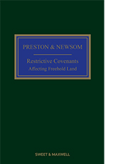 Preston and Newsom: Restrictive Covenants Affecting Freehold Land