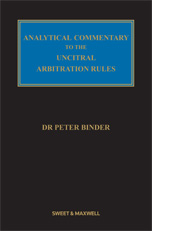 Analytical Commentary on the UNCITRAL Rules
