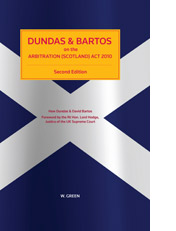 Dundas and Bartos on the Arbitration (Scotland) Act 2010