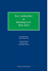 Key Authorities in Banking Law 2011-2012
