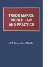 Trade Marks, Trade Names and Unfair Competition: World Law and Practice