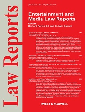 Entertainment and Media Law Reports