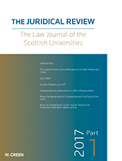 Juridical Review: The Law Journal of the Scottish Universities