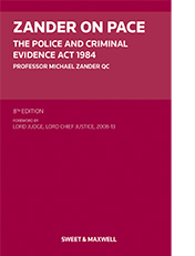 Zander on pace 9780414061934 sweet maxwell the police and criminal evidence act 1984 8th edition fandeluxe Gallery
