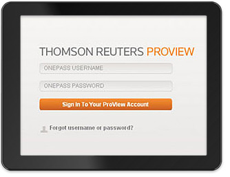 OnePass - your login for multiple Thomson Reuters websites