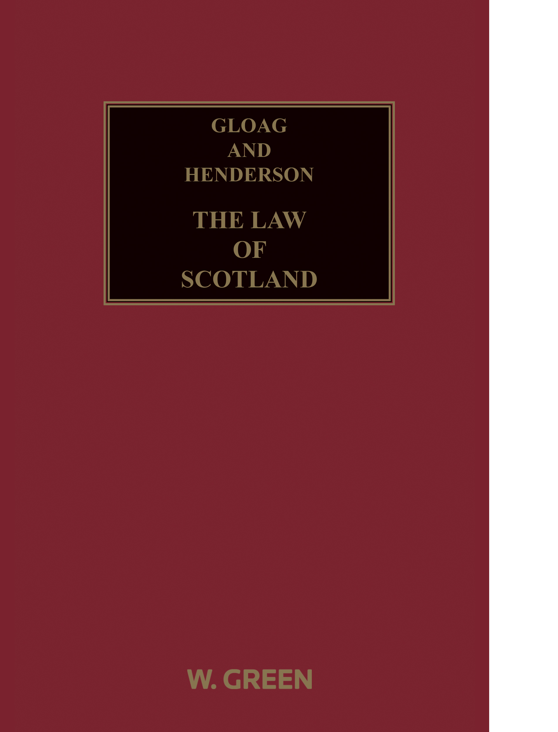 Gloag and Henderson: The Law of Scotland (14th Edition)